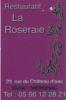 Restaurant La Roseraie