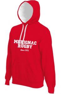 Photo du produit : Sweat rouge Mérignac Rugby
