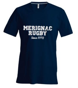 Photo du produit : Tee-shirt bleu Mérignac Rugby