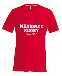 Photo du produit : Tee-shirt rouge Mérignac Rugby