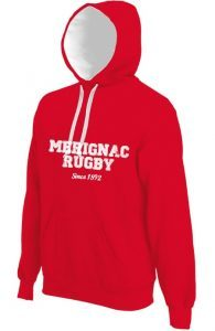 Photo du produit : Sweat rouge Mérignac Rugby